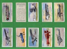 Tobacco cards Cigarette cards  Civil Aeroplanes 1935 set